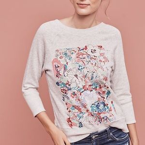 Anthro Postmark Paint By Number Pullover L